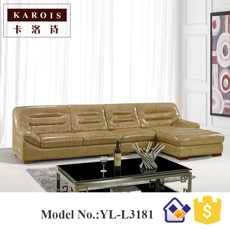 Modern KARIOS New Product American Corner Leather Sofa L3181sofa Deckeleather Chaise
