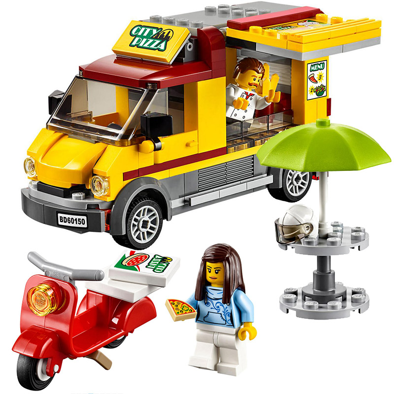 Bela 10648 City Series City Pizza Van Food Truck Figure Building Block Bricks Toys Gift Compatible With Legoings 60150 gzeele laptop lcd back cover screen for hp for envy 15 15 j 15 j000 15 j100 lcd front bezel cover 720535 001 b shell touch black