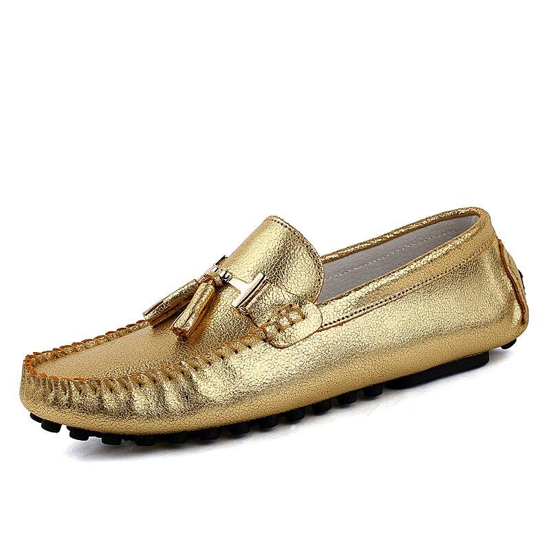 Men loafers Nice new women font b flat b font shoes genuine leather slip on drving