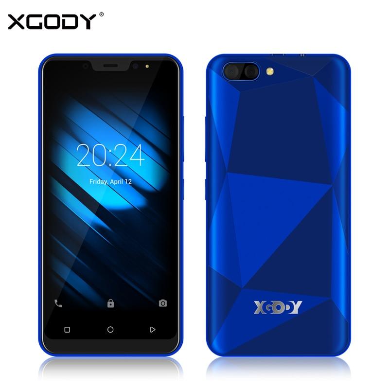 XGODY X27 Face ID Smartphone Android 9.0 GB GB MTK6580 16 1 Quad Core 5 Polegada 3G Dual Sim câmera GPS Do Telefone Móvel 3D 5MP Tampa Traseira