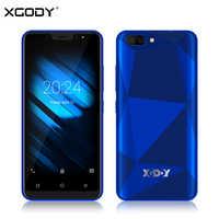 XGODY X27 cara de teléfono inteligente Android 9,0 1GB 16GB MTK6580 Quad Core 5 pulgadas 3G Dual Sim 5MP Cámara GPS teléfono móvil 3D contraportada