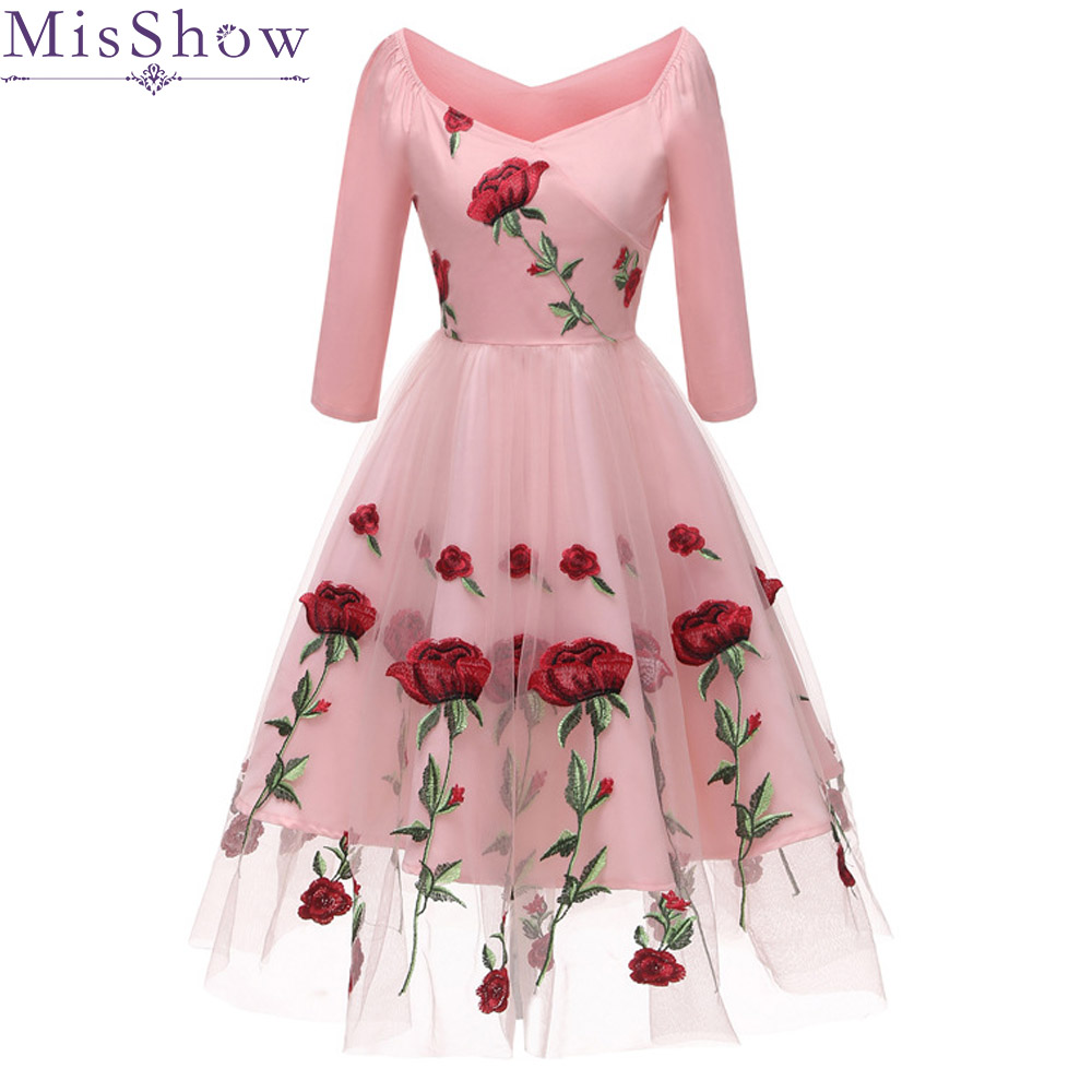 Pink Floral A-Line short Tulle   Cocktail     Dresses   2019 Elegant backless Women Vestidos V-Neck Sexy Women   Cocktail     Dresses