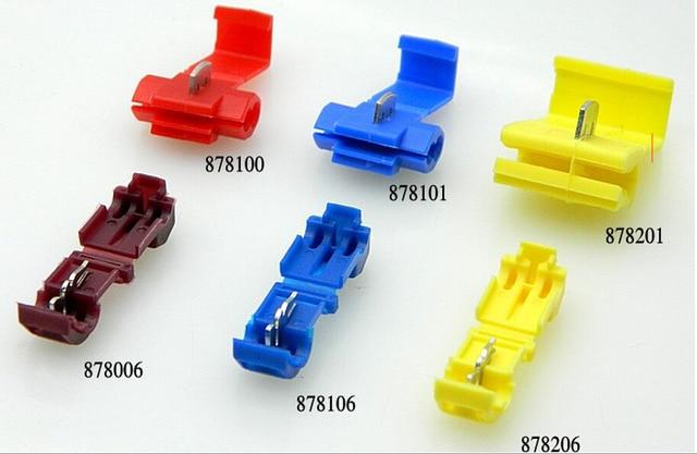 50PCS/lot Red 878100 Soft wire clip Folding clasp Sub line ...
