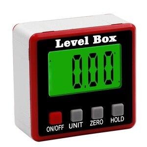 Image 4 - Rapporteur numérique de précision inclinomètre numérique, boîte de niveau étanche, détecteur dangle numérique avec Base magnétique