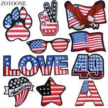 Zotoone железные нашивки с американским флагом для одежды сделай