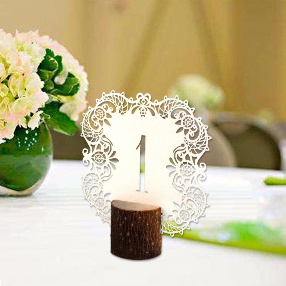 Ourwarm 10 teile/satz Rustikale Hochzeit Tabellennummer Tischkarten ...