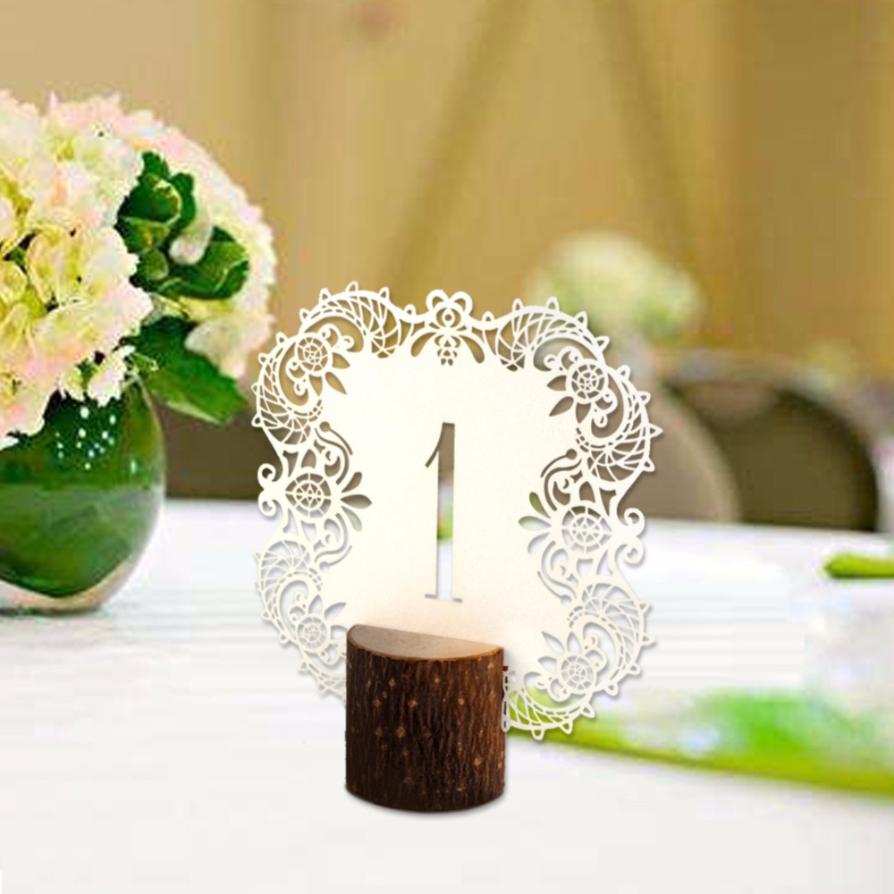 Ourwarm 10pcs/set Rustic Wedding Table Number Table Cards with ...