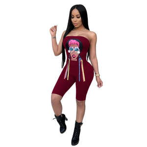 7a09127cfc Mrs win 2018 Summer Sexy Bodysuits Backless Jumpsuit Shorts