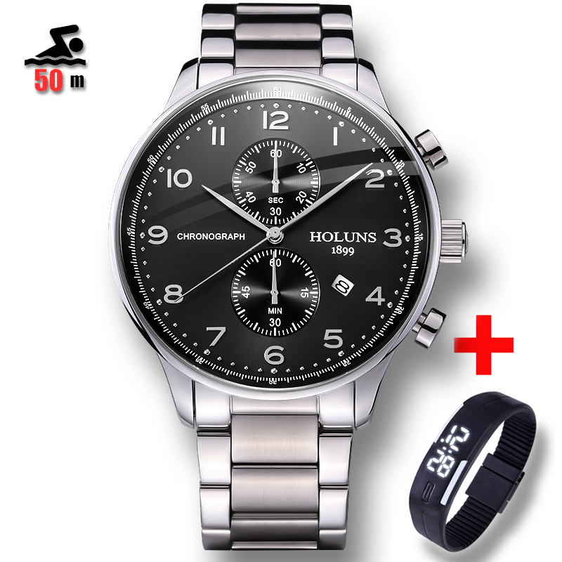 50m Water Resistant Relojes Mens Watches Brand Luxury Men Military Sport Wristwatch Male Quartz Watch Clock