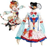Love Live School Idol Project Hoshizora Rin Circus Fancy Dress Uniform Outfit Anime Cosplay Costumes