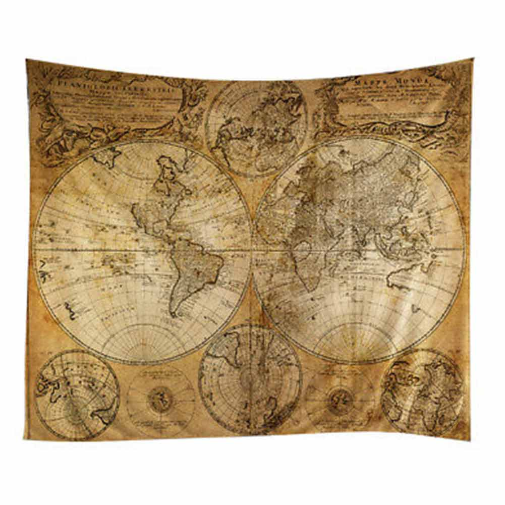 World map printing indian mandala tapestry beach towel wall hanging world map printing indian mandala tapestry beach towel wall hanging yoga mat table cloth home decoration hot sale in tapestry from home garden on gumiabroncs Gallery