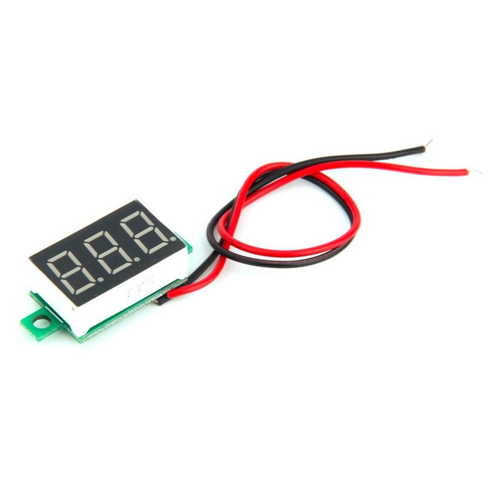 2017 nový digitální LCD voltmetr voltmetr voltimetro červená LED - Měřicí přístroje - Fotografie 5