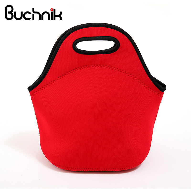 Neoprene Thermal Lunch Bag Insulated Waterproof Cooler Storage Picnic Bag Pouch Food Hand Tote Easy carrying Accessories Product 2 layers family cooler bags thermal iced drink lunch box picnic food storage shoulder handbag pouch accessories supplies product