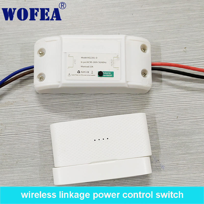Wofea Wireless Linkage Power Control Switch With Auto On And Auto Off 1 Channal  95-260V  10A