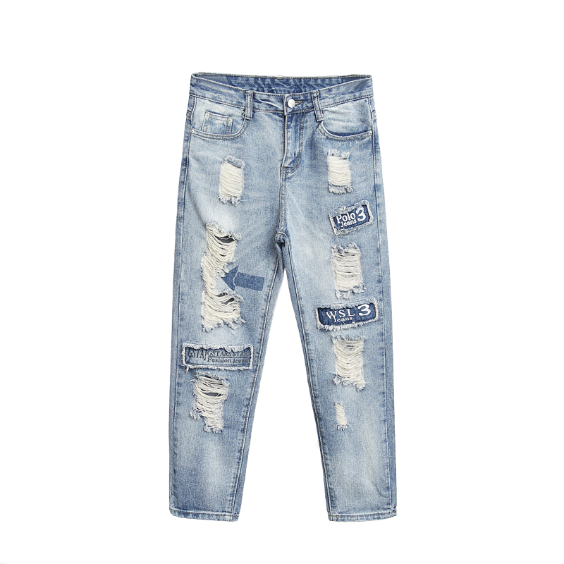 Online Get Cheap Damage Light Denim Jeans -Aliexpress.com ...