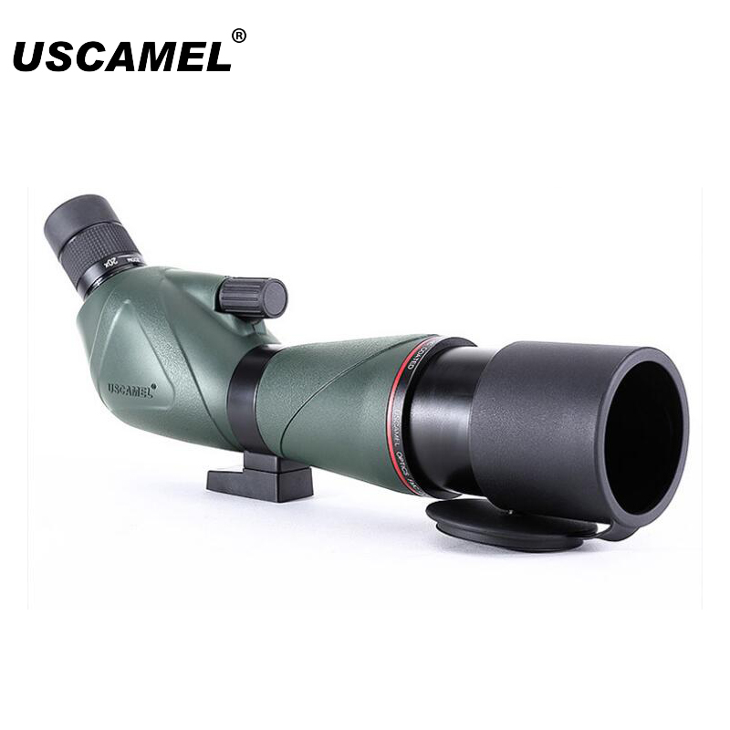 USCAMEL Bird Watching Waterproof Spotting Scope - 20-60x60/20-60x80 Zoom Monocular Telescope -with Camera Photography зрительная труба veber snipe 20 60x80 gr zoom