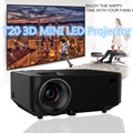 t20 3D MINI Portable LED Projector 800*480 1000 Lumens Video Games TV Home Theater Movie Support HDMI VGA AV SD Full HD