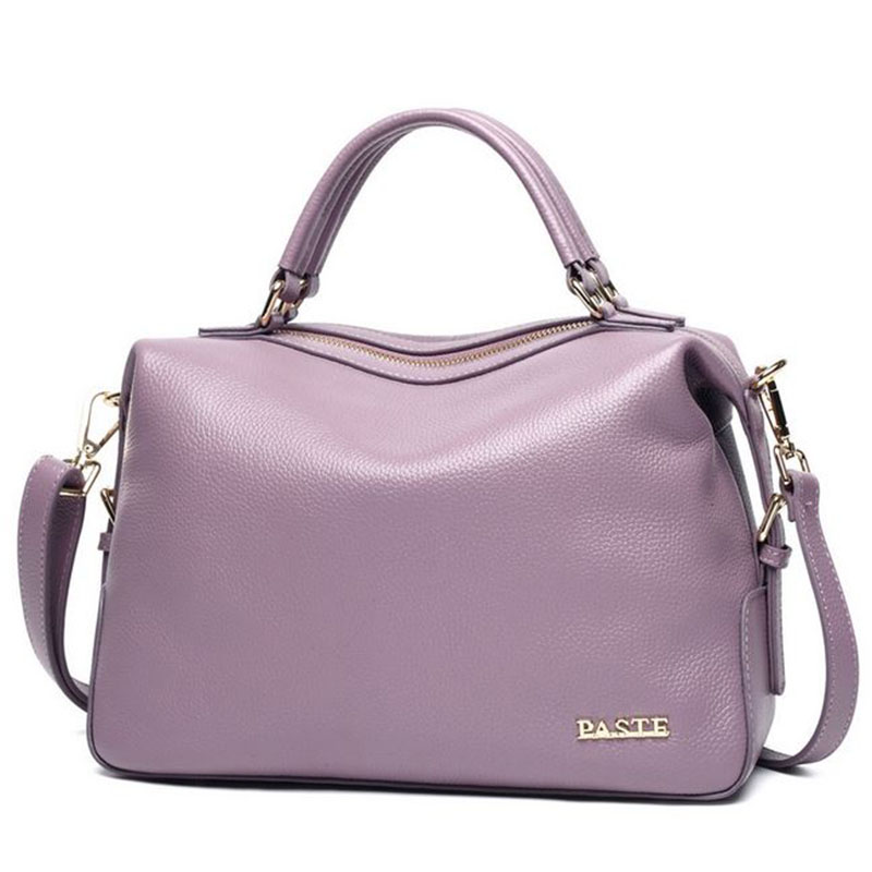 Fashion Genuine Leather Women Bag Brand Solid Color Women s Messenger Shoulder Bags Leisure Soft Cowhide