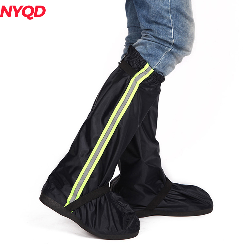 Motorcycle Waterproof Rain Shoes Covers Thicker Scootor Non-slip Boots Covers 100% Waterproof Adjusting Tightness