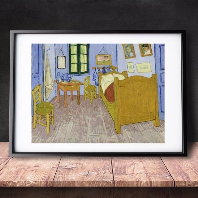 Us 477 49 Offsypialnia W Arles Van Gogh 1889 Canvas Reprodukcja Malowanie Plakat Zdjęcia ścienny Do Pokoju W Domu Dekoracyjne Sypialnia Decor