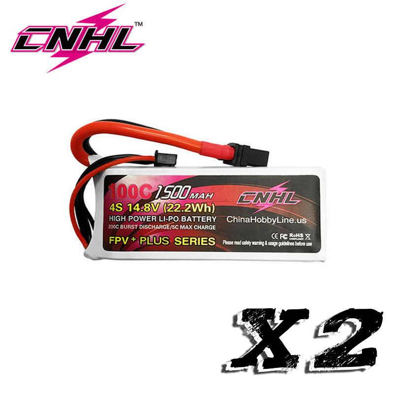 2 единицы CNHL 14,8 V зарядное устройство 1500 mAh 4S Lipo зарядное устройство 100C пакет lipo с XT60 вилкой для RC автомобиля грузовика самолета FPV
