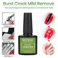 MIZHSE Nail Gel Polish Magic Remover For Manicure Acrylic Clean Degreaser For Nail Lacquer UV Nail Polish Burst Magic Remover