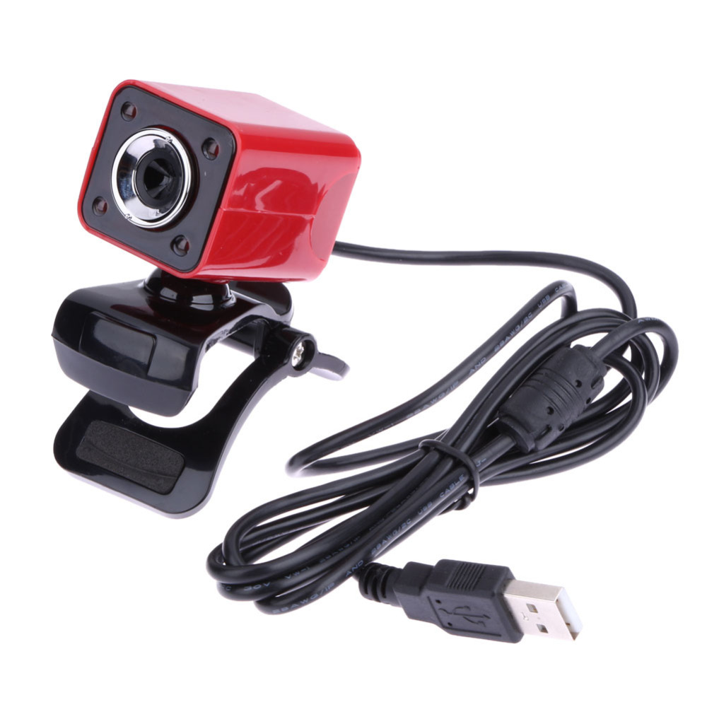 USB 2.0 High Definition Full HD 1080P 12M Pixel 4 LED Lights Computer Webcam 360 Degree Rotatable Web Cam Camera with MIC for PC