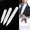 """200 pçs/lote Estadias de Colarinho Branco Plástico Ossos Reforços para a Camisa Dos Homens Vestido Formal Presente 3 Tamanhos 2.5 """"3"""" 2 """"nova"""
