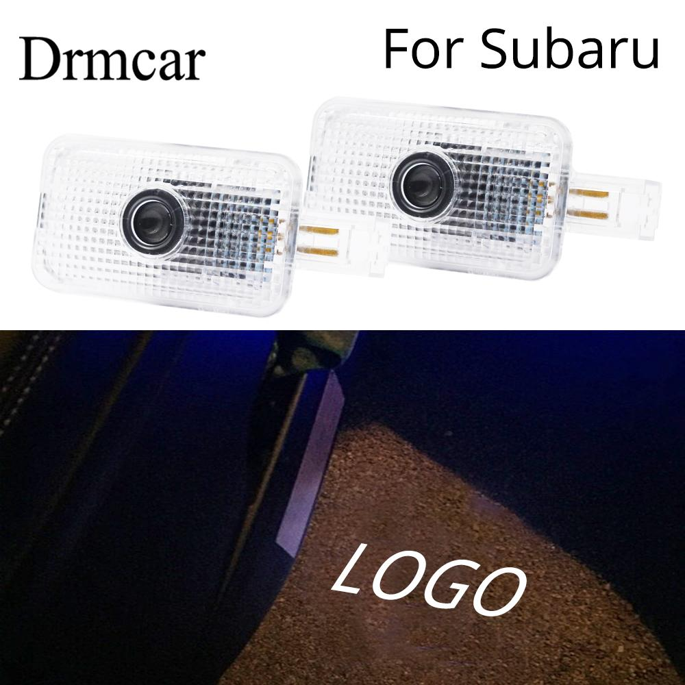 2X Welcome Light Door Led Shadow Projection Lamp Courtesy Laser For Subaru Forester Outback Legacy XV Impreza Tribeca 5W 6000K