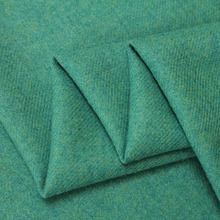 (50 cm/lot) tweed fabric for sewing pure wool fabrics woolen cloth solid peacock green fat quarter telas heavy worsted