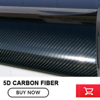 Premium Quality Super Gloss Black 5D Carbon Fiber Vinyl Wrapping Film Roll 4D Texture Bubble Free