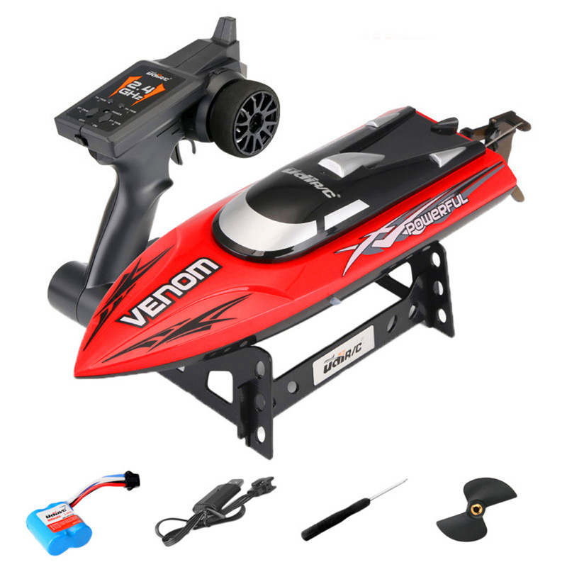Image 2 - 30KM/H High Speed Mini RC Boat 2.4GHZ 4CH Radio Remote Control Speedboat For Fishing Ship Bait Boat Electric RC Toys For Gifts-in RC Boats from Toys & Hobbies