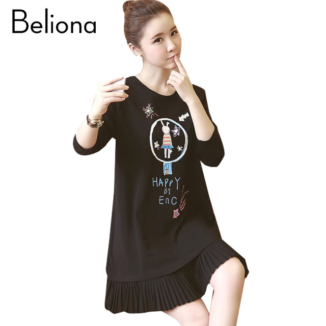 4ee2c17bd4454 Plus Velvet Maternity Dress 2017 Autumn Winter Warm Maternity Clothes  Fashion Pregnancy Clothing for Pregnant Women