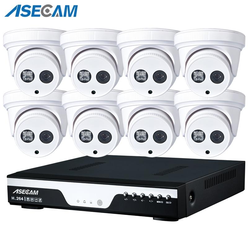 Новый P 8CH 1080 P POE NVR CCTV системы массив Белый купол домашние IP камера Onvif видеонаблюдения приложение PC P2P удаленного просмотра