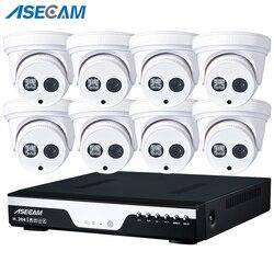 Nowy 8CH 1080P POE NVR System CCTV Array biała kopuła kryty dom kamera IP Onvif nadzór bezpieczeństwa APP PC P2P zdalny podgląd