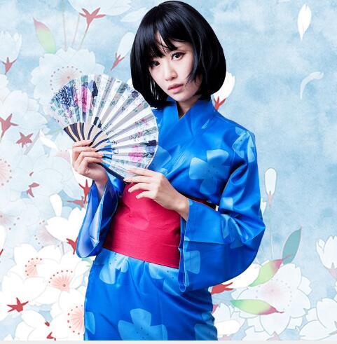 Kimi no Na wa Your Name Mitsuha Miyamizu Girls Cosplay Costume Japanese Kimono robe Performance Women Halloween clothing