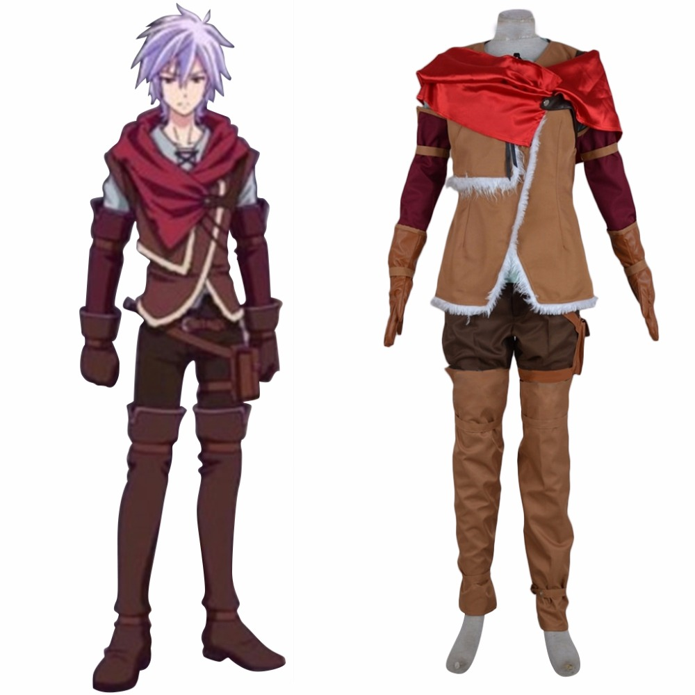 Custom Made No Game No Life Cosplay Costume Riku Top Pants Shiirt Gloves Costume L0516