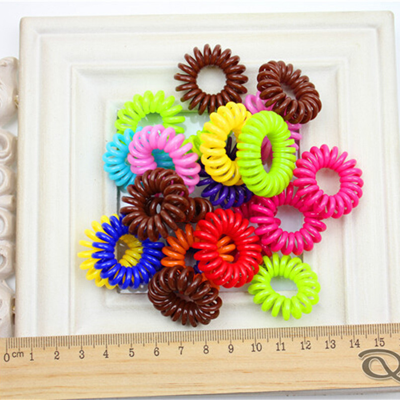 Candy Colored Hair Accessories Telephone Wire Hair Ring Hair Rope Spring Rubber Band