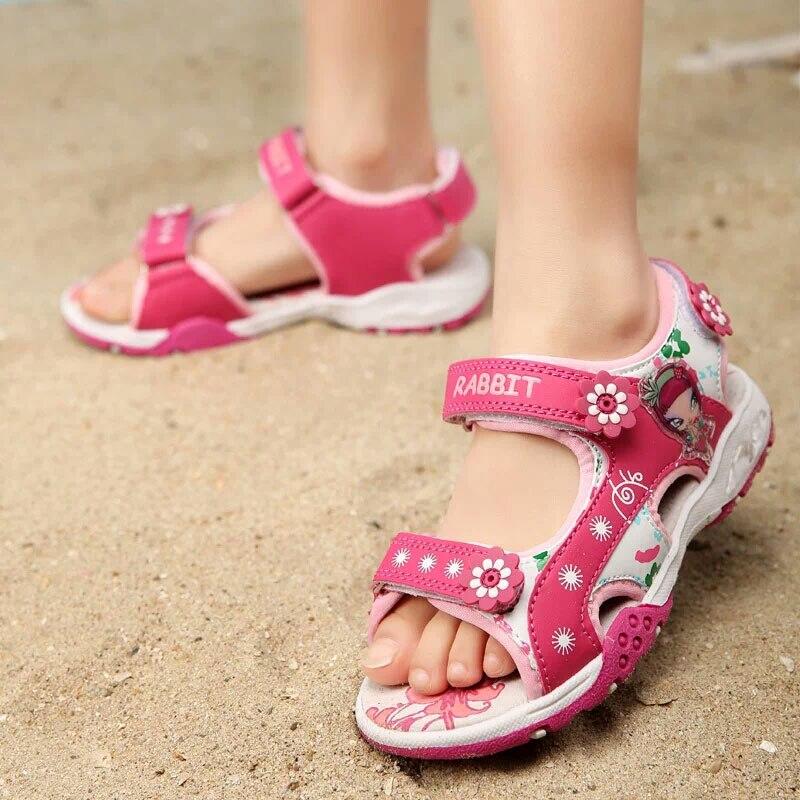 meisjes sandalen zomer nieuwe stijl kinderen schoenen meisje mode - Kinderschoenen - Foto 4
