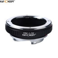 K&F CONCEPT OM L/M Camera Lens Adapter Ring fit for Olympus OM Mount lens To for Leica M mount L/M Camera Body