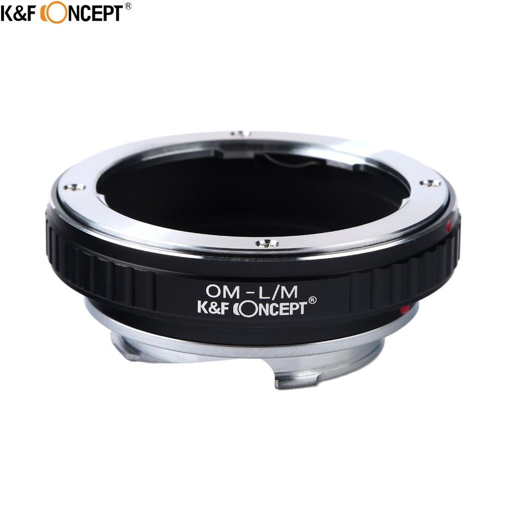 K & F CONCEPT OM L/м Камера кольцо адаптер для объектива камеры подходит для набор удлинительных колец для Olympus Крепление объектива к костюму для Leica M LM объектив крепление L/M Камера тела