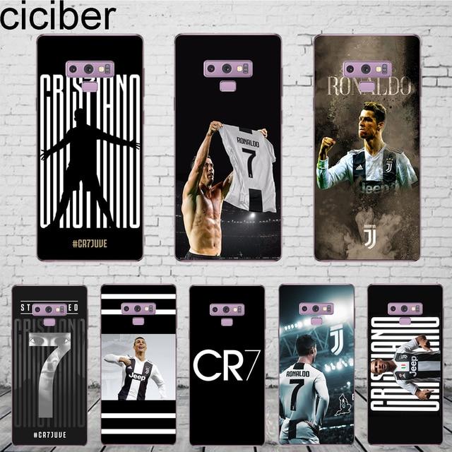 0d1e892d45cf ciciber Football Cristiano Ronaldo CR7 Coque For Samsung Galaxy S 6 7 8 9  Edge Plus Phone Case For Galaxy Note 5 8 9 Cover TPU