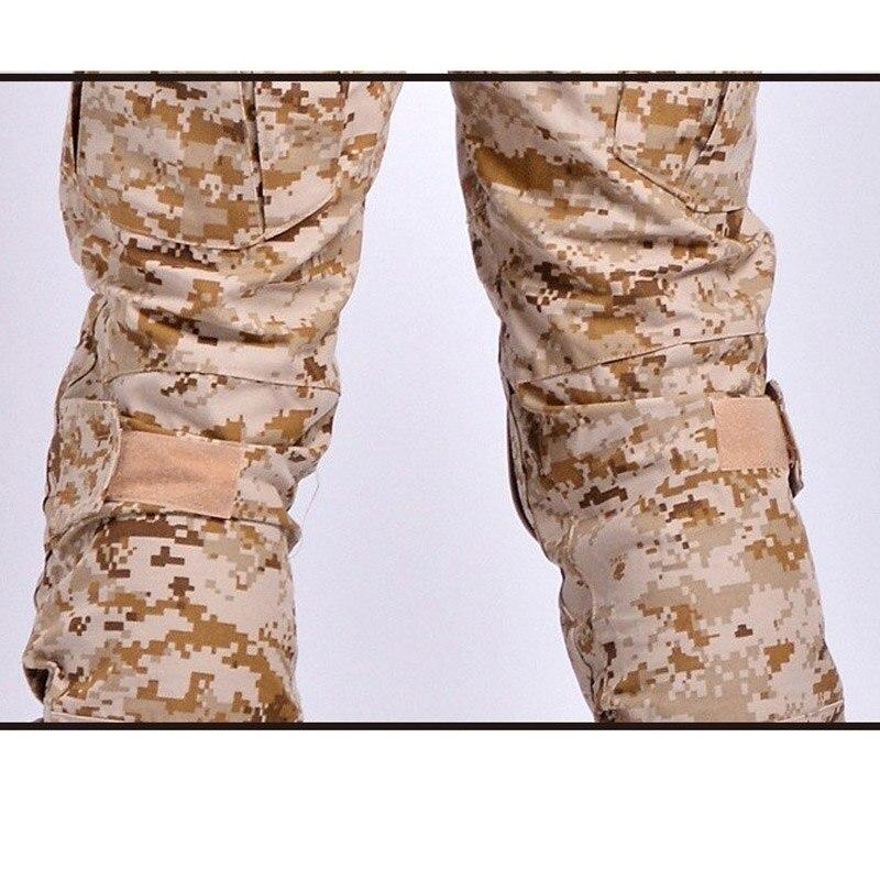 Tactique Camouflage militaire uniforme vêtements costume hommes US armée Multicam Airsoft Combat chemise + Cargo pantalon genouillères - 5