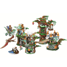 Moc Jurassic World Building Blocks Dinosaur 2 Mini Dino Figures Bricks Toys Children Compatible With
