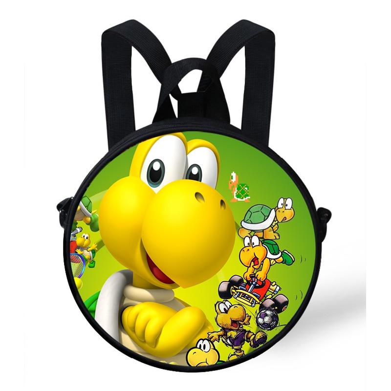 Kinder- & Babytaschen Pflichtbewusst 9-zoll Bunte Kinder Runde Rucksack Super Mario Bros Koopa Druck Tasche Für Kinder Jungen Mädchen Rucksack Für Baby Kindergarten