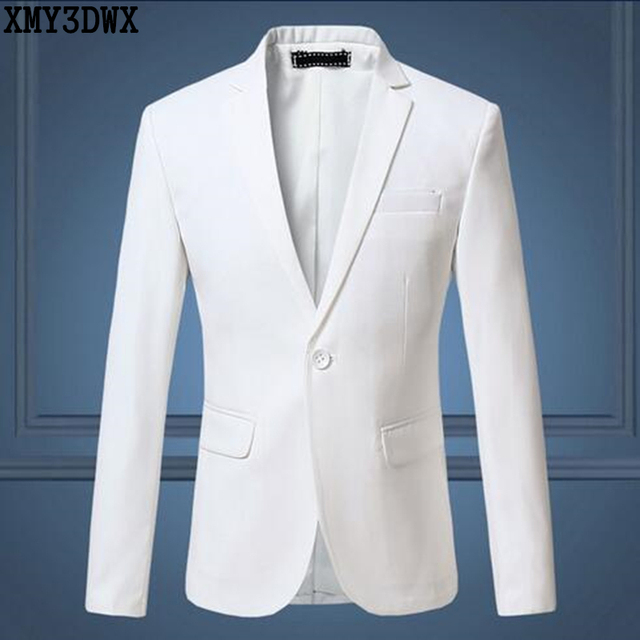 Мужской Белый Костюм Бизнес Формальный Мода Blazer Куртка Плюс Размер М-6XL Slim Fit Костюм Blazer Марка Дизайн Мужские Случайные Костюм куртка
