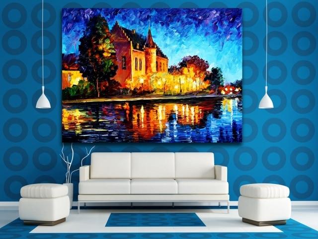 100% Hand painted Landscape Belgium Denmark France Cityscape ...