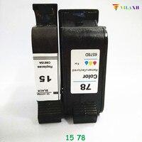 15 78 78A C6615A C6578A Substituição Do Cartucho de Tinta Para HP Photosmart 1215 Deskjet 810c 812c 840c 845c 920c Officejet K80 impressora