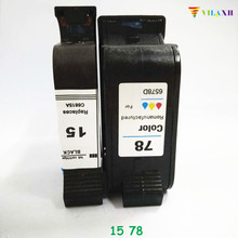 For HP 15 78 Ink Cartridge For HP Photosmart 1215 Deskjet 810c 812c 840c 845c 920c Officejet K80 K80xi V40 V40xi V45 Fax 1220 for hp 15 78 ink cartridge for hp deskjet 845c 920c 810c 812c 816c 817c 825c 840c 3920 printer ink for hp15 c6615a c6578a
