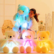 New hot Kids Toys 50cm&75cm colorful glowing teddy bear luminous plush toy Birthday Gift Send Kids Lovely Soft Toy